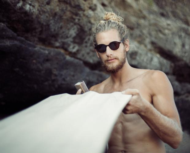 NED man beard wax - waxing his board - NED men's styling - NED Buy Australian beard oil