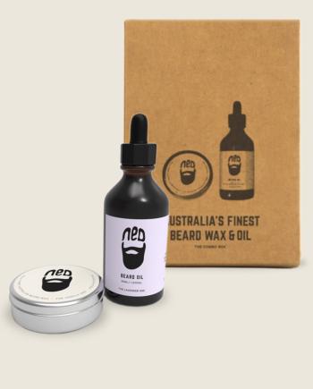NED beard oil - NED beard wax - most popular beard wax and beard oil duo - toiletries for men