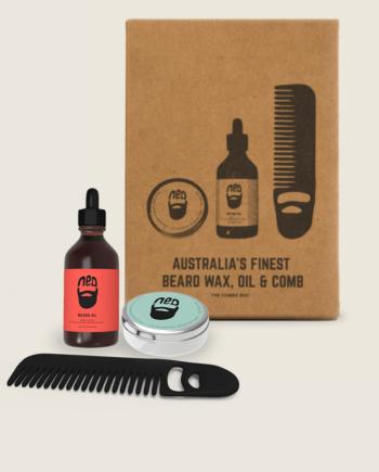 NED beard comb - NED beard oil - NED moustache wax - NED beard wax