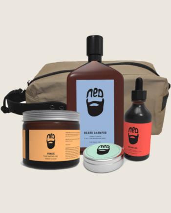 NED men's washbag - NED grooming products - NED men's wax - men's beard oil -men's grooming travel pack australia