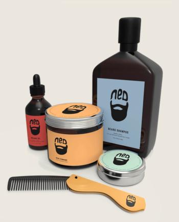 NED aloy grooming comb for men - ned hair wax - snap back grooming comb - NED beard oil australia - washbag kit
